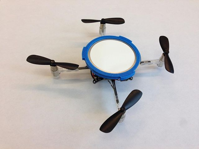 Prototype bioaerosol collection drone ~30 g. Impractical yet forced us to think about engineering challenges. #Drone #Bioaerosol #Lab #Prototype #Engineering #ControlSystem #BuiltEnvironment #Sampling