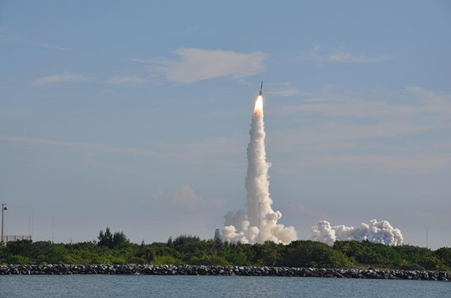 Launch of GRAIL spacecraft, Ebb and Flow, on September 10, 2011. Credit: C.E. Carr. #NASA #Space #Exploration #Fun #RocketLaunch #Florida #CocoaBeach #CapeCanaveral