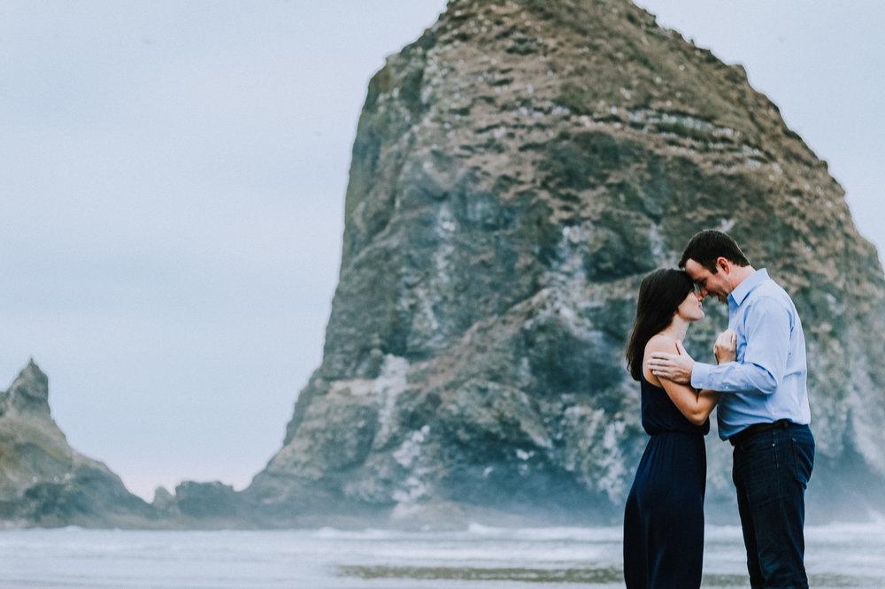 Caitlin + Scott - A Cannon Beach Couples Session