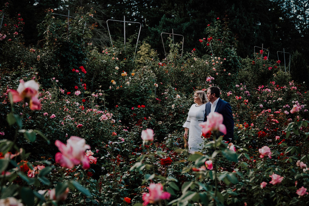 Portland Rose Garden Engagement Photography 2