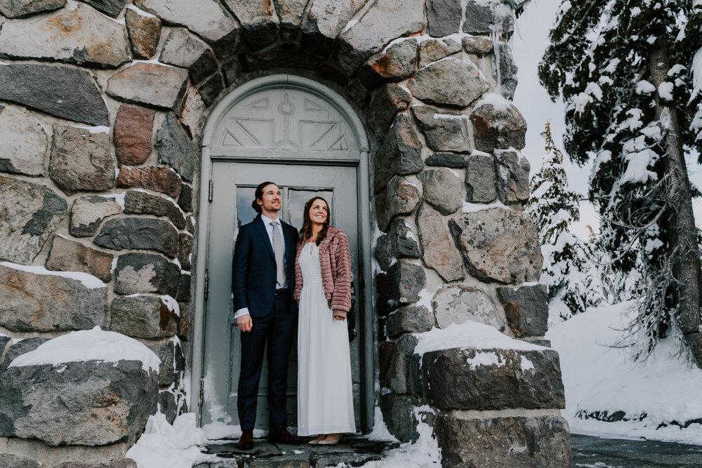 Mt Hood Timberline Lodge Elopement Patti and Ben
