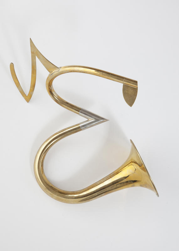 Szymanski_Carol_Alphabet_Horns_E_Uppercase_2000-2012_brass_18x7_inches_irregular.jpg