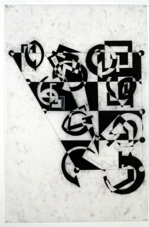 Szymanski_Carol_Vowels_1998_The_Cardinal_Vowel_Marching_Band_charcoal_on_vellum_42x36_inches.jpg
