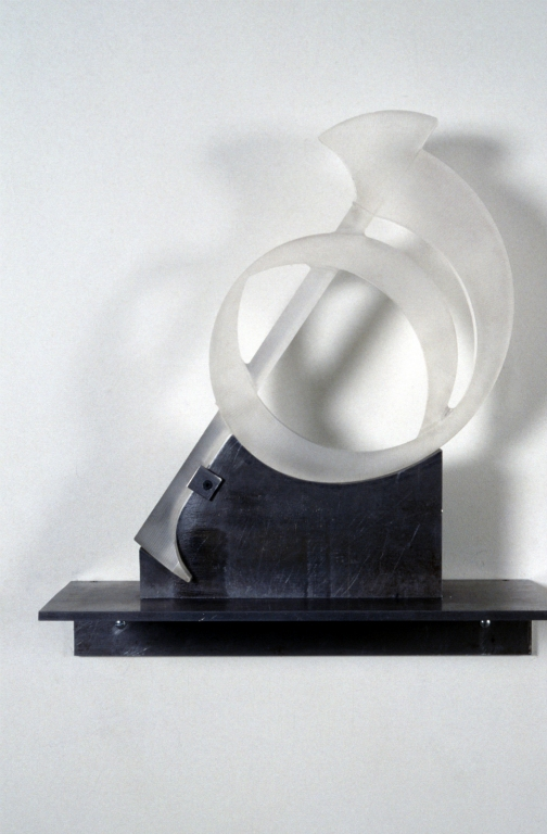 Szymanski_Carol_Solfege_Sounds_1991_The_Gift_lucite_on_steel_19x19x7_inches.jpg
