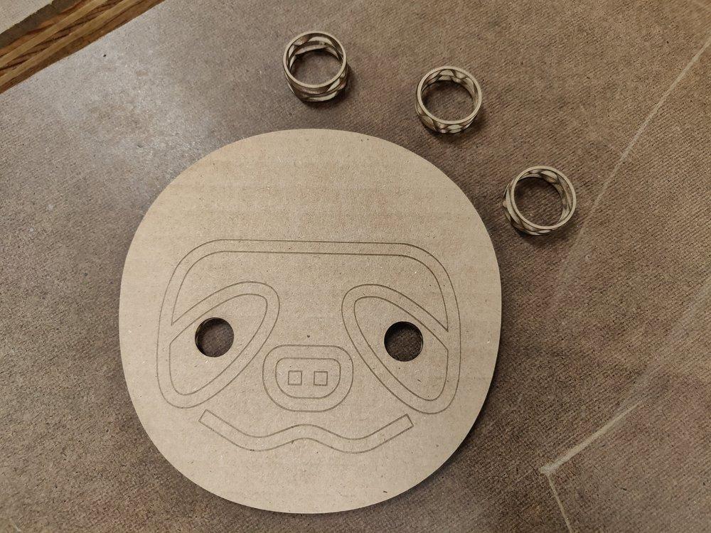 Laser cut cardboard