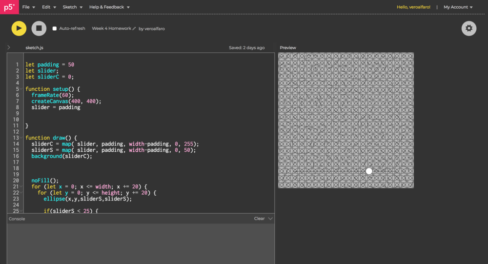 First grid generated while working in a team.