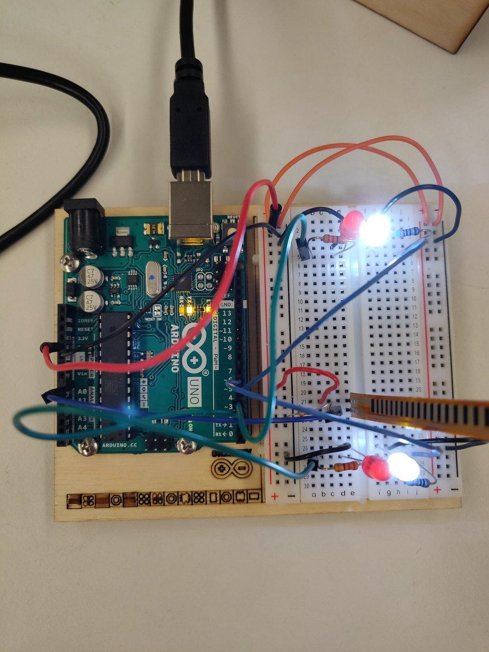 Circuit with analog input.