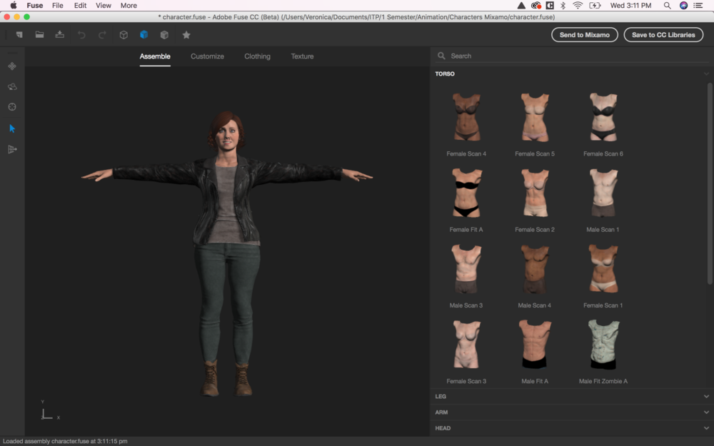 Character Design in Fuse