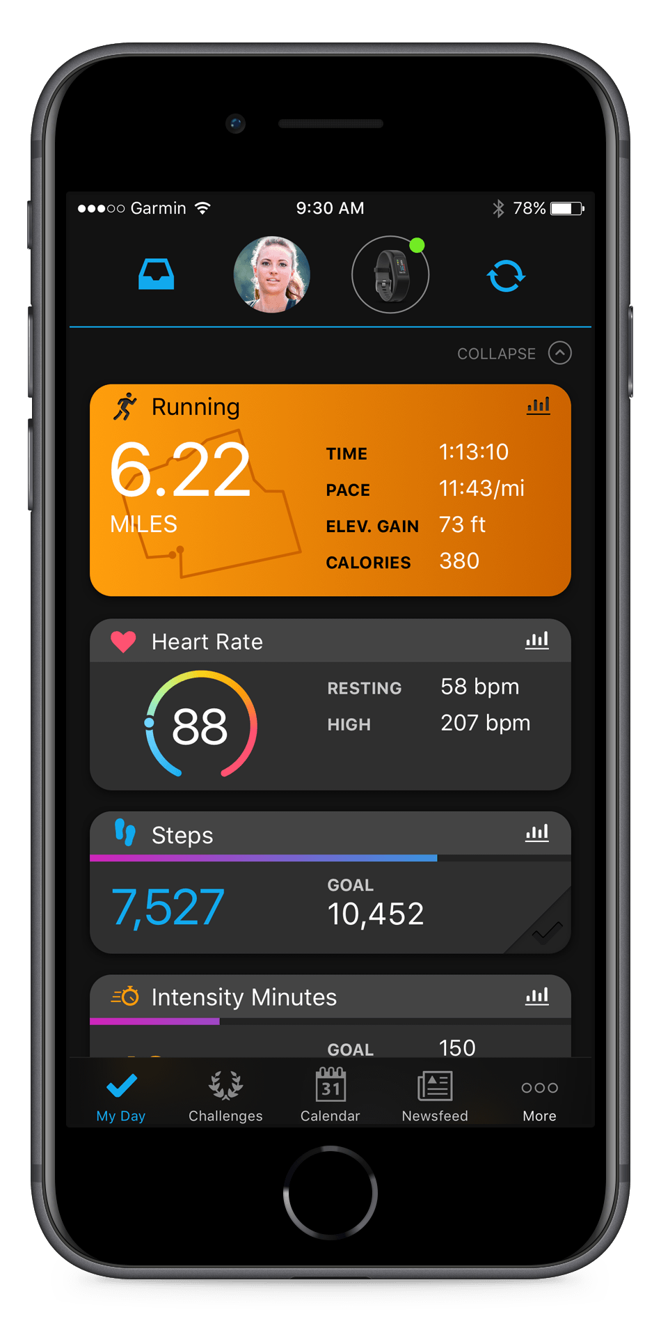 Garmin and Strava mobile apps  Image credit:  Connect.garmin