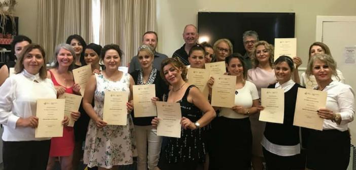 Barista course graduates