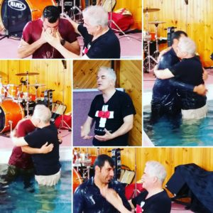 Recent baptism service with new Iranian believers