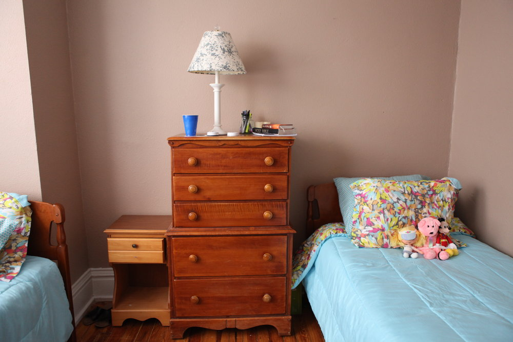 A bedroom in Freedom House, part of True Light FRC