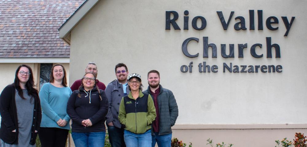 Trip members L to R: Alex Harms, Lauren Morris, Debbie McCullock (International Ministries Pastor), Chase Grantz (graduate intern), Caleb Simonds, Angie Flemming, and Tyler Stark (Staff Pastor).
