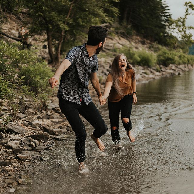 —couldn't get their shoes off fast enough to get in this lake