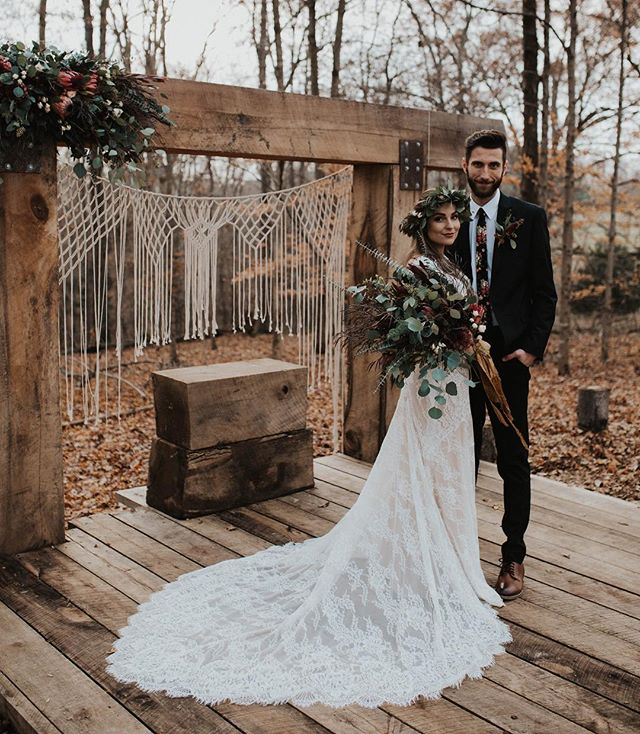 — this wedding in the woods, so beautiful you forgot it was 50 degrees