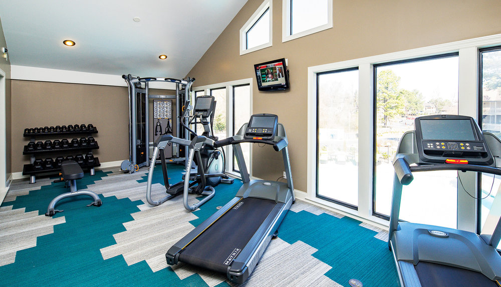 Get fit & work up a sweat. - Enjoy a top notch, fully equipped cardio center. Even better, it's conveniently located just steps from your door, without the big price tag of a gym membership.