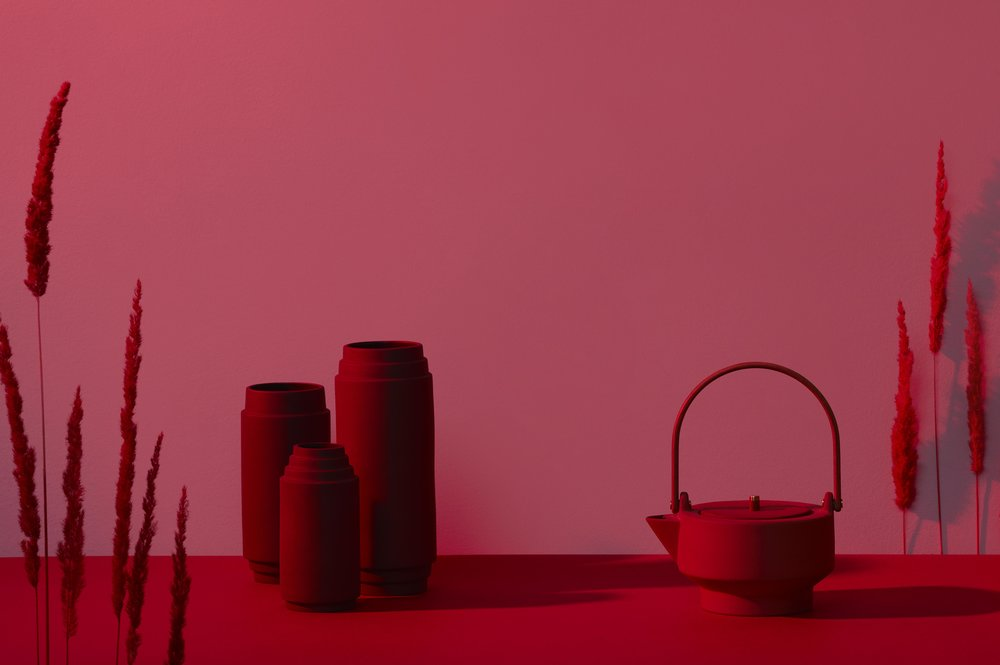 Vases and teapot by Stilleben for Skagerak