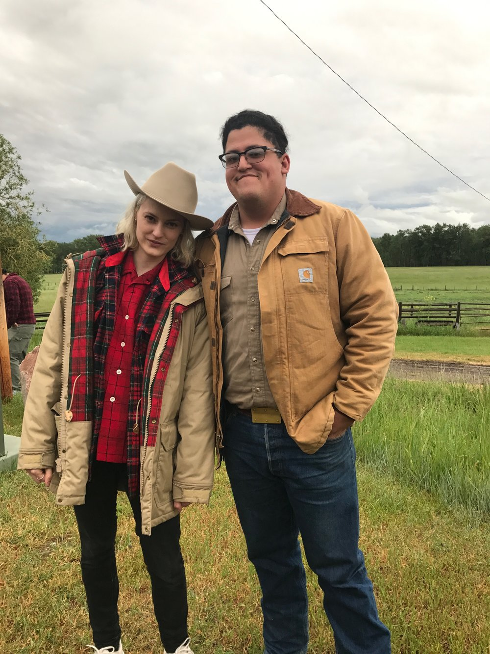 Laine Rettmer and Joe Strom, June 2017 site visit to the Kelly Ranch.