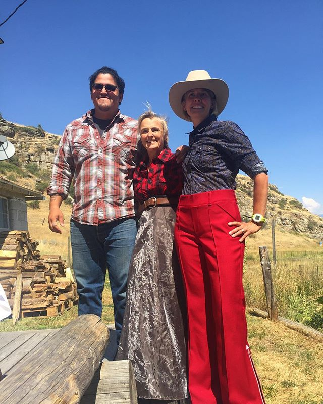 Tour guide costuming! One of our favorite activities as we get ready for Gabriel Canal. Joseph Carlson Strom, Jen Boyer of Farm 51 and Sue Higgins, water resources management expert, pause mid fitting. Come see us all next week for the opening of Gabriel Canal!