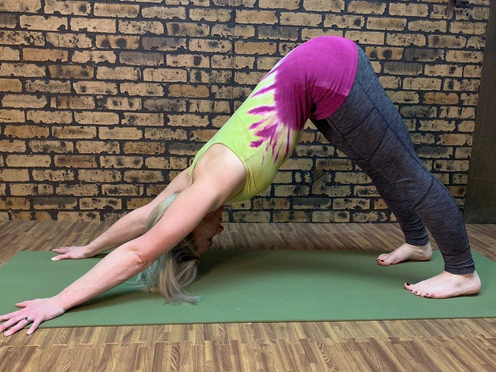Yoga in Chicago - downward dog