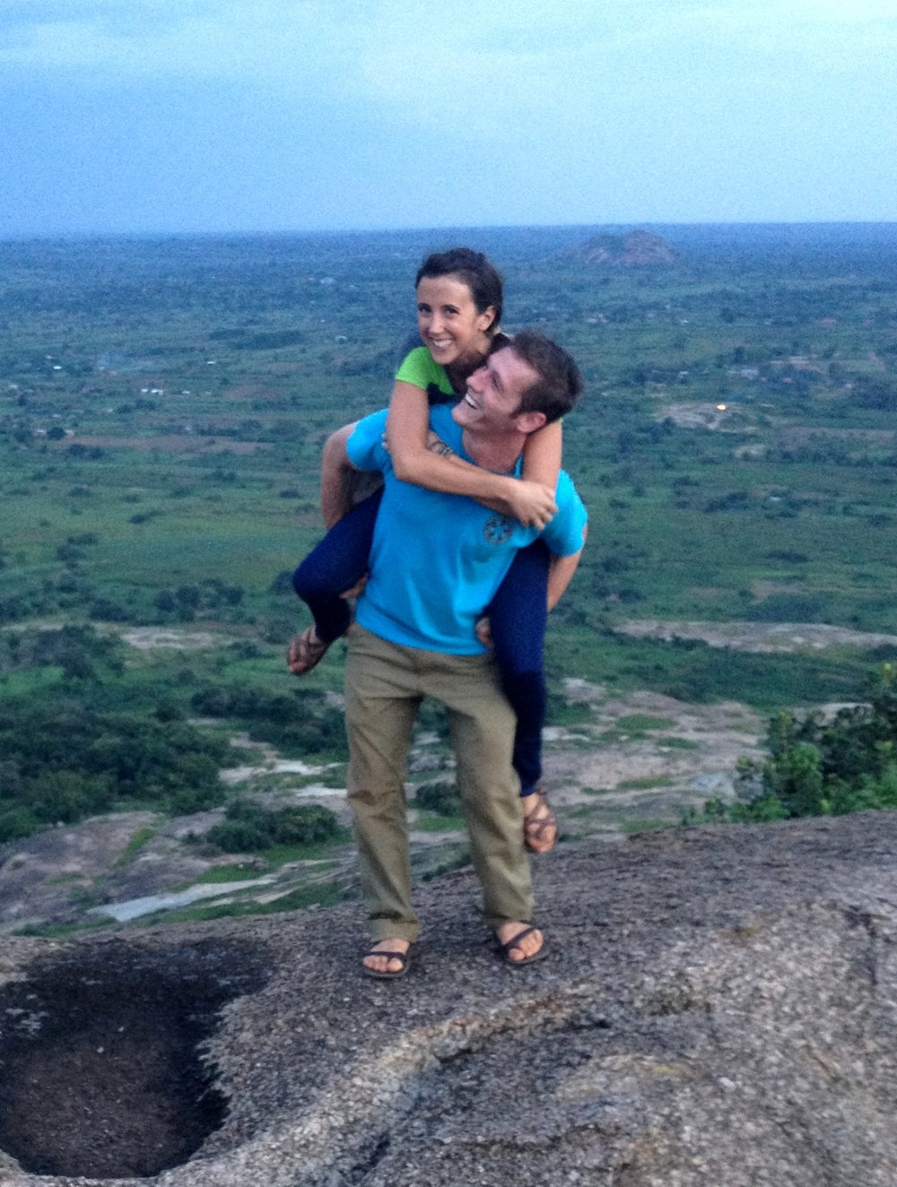 Atop a hill in our town in Uganda. Circa 2014.
