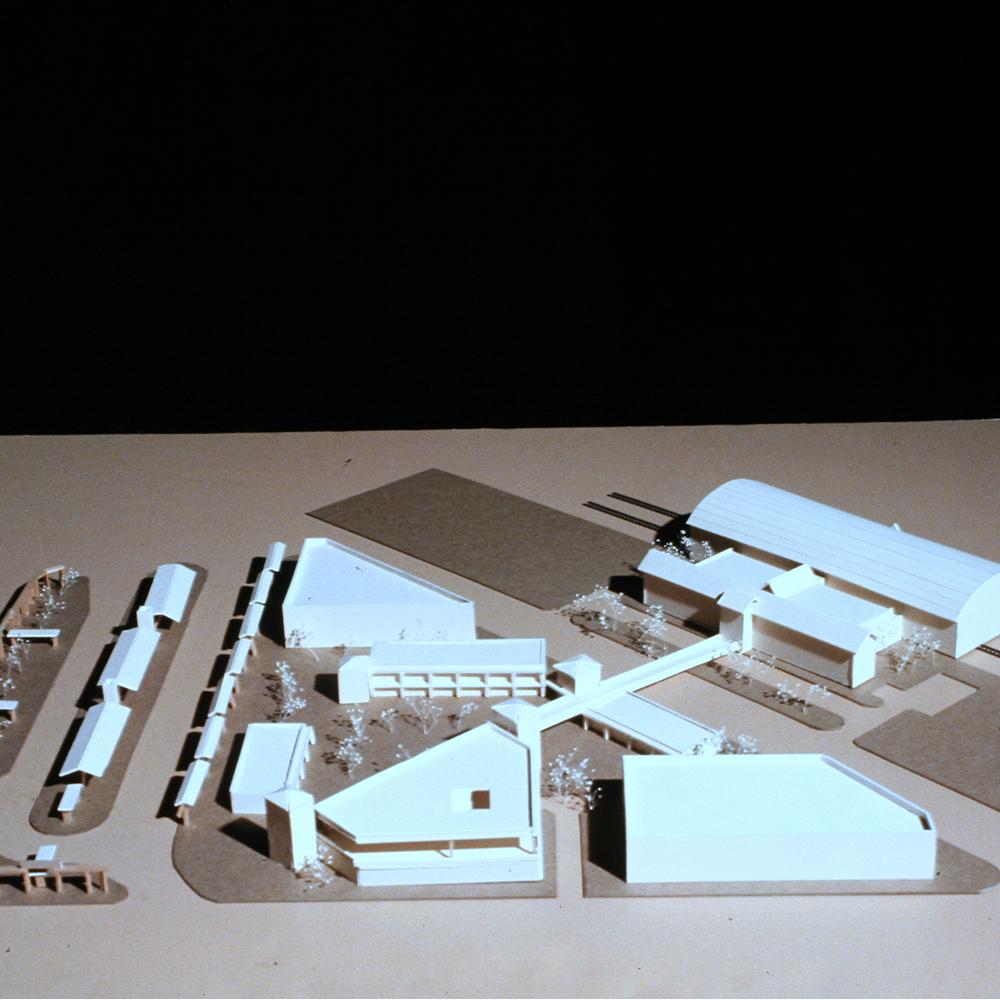 Model of Tom's 5th year final project (transportation hub), University of Arizona, 1993