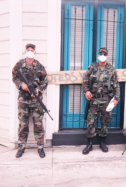 Photo Credit: Joe Clader https://commons.wikimedia.org/wiki/File:Patrolling_an_area_that_was_previously_underwater_in_New_Orleans_September_2005.jpg