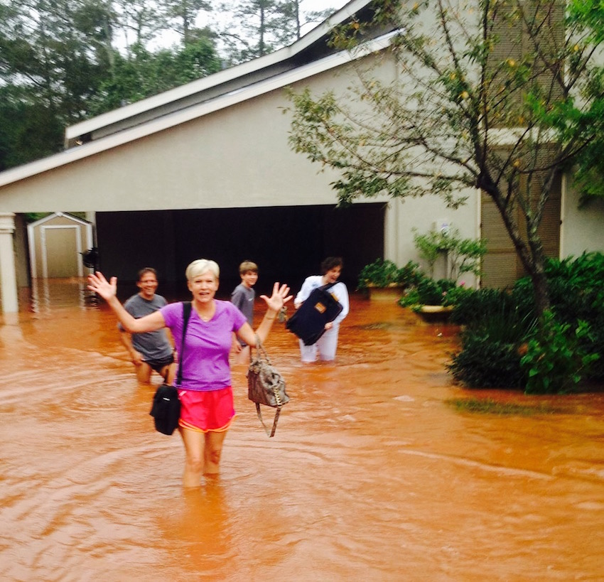 Our home flooding in Hurricane Isaac