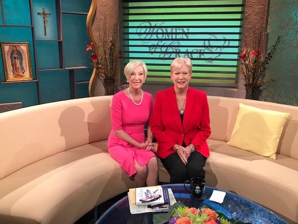 "With Johnette Benkovic Willams on ""Women of Grace"""