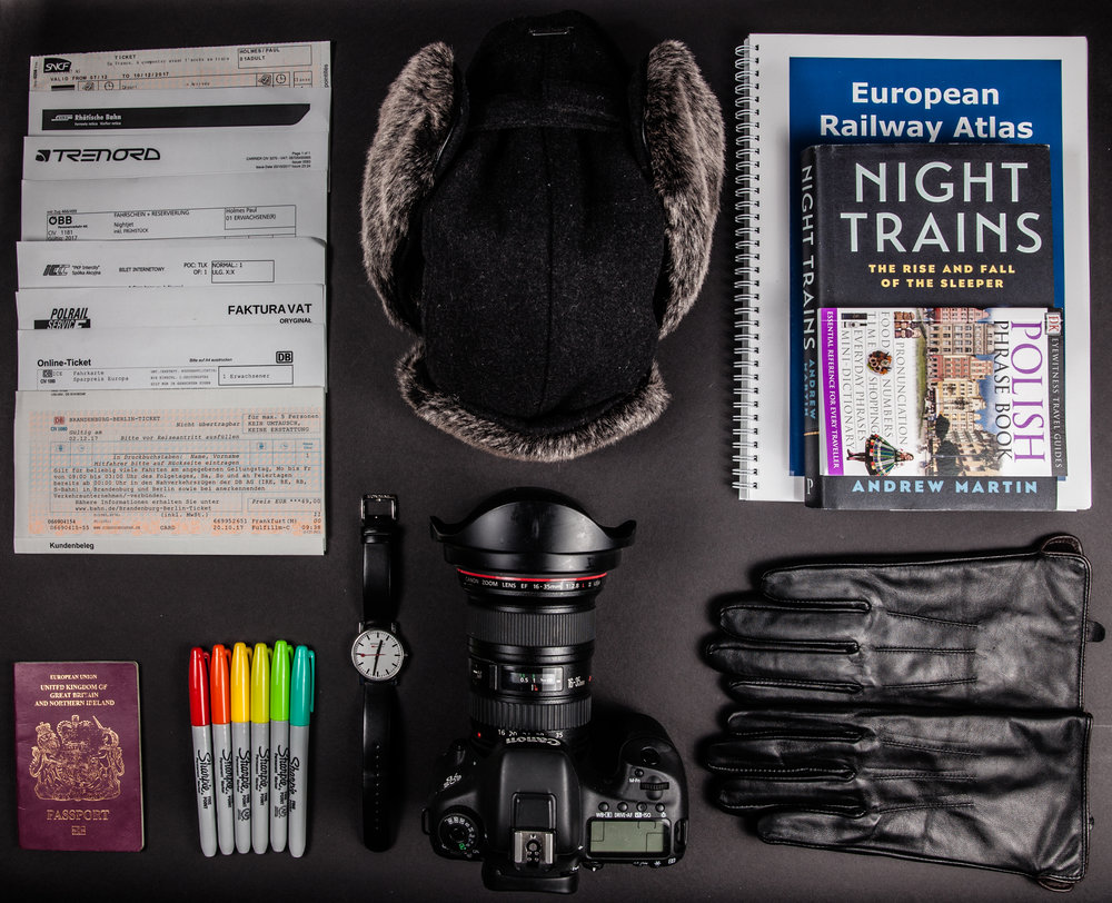 All you need for a trip round Europe. Oh and maybe some money. And some clothes.