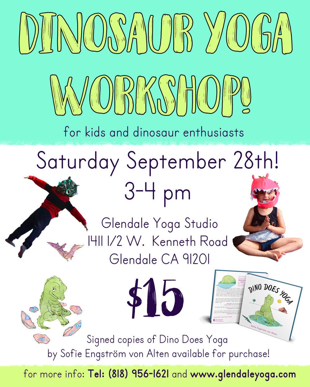 Dino Does Yoga Kids Yoga Event Glendale Yoga