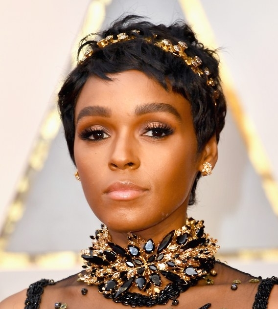 allure   Oscars 2017: There Aren't Enough Heart Emojis to Describe Janelle Monáe's New Pixie Cut