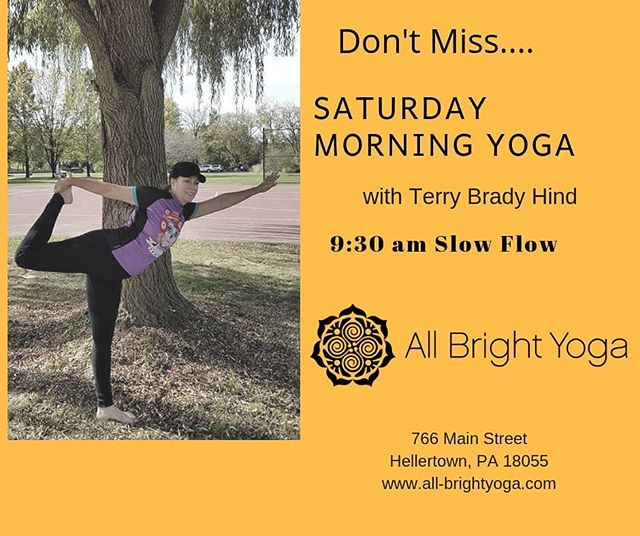 Don't miss Terry's class this Saturday at 9:30am!!