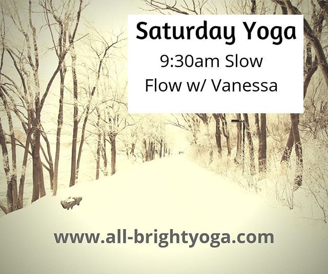 Yoga is a great way to stretch your body after shoveling snow.  Join @vanessalynyoga for 9:30am Slow Flow Yoga on Saturday, Nov 17th.