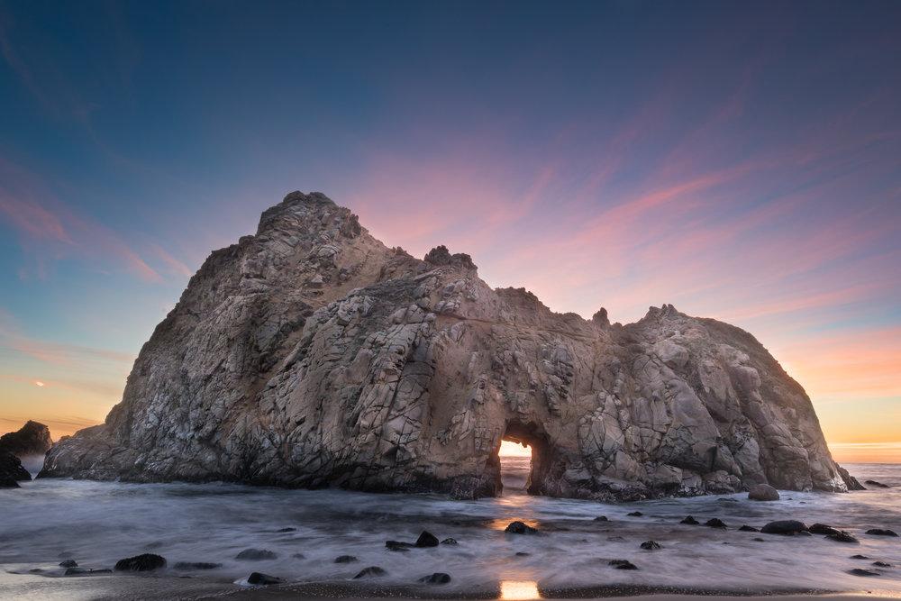 Keyhole Arch, Pheiffer Beach, Big Sur, California [December, 2017]