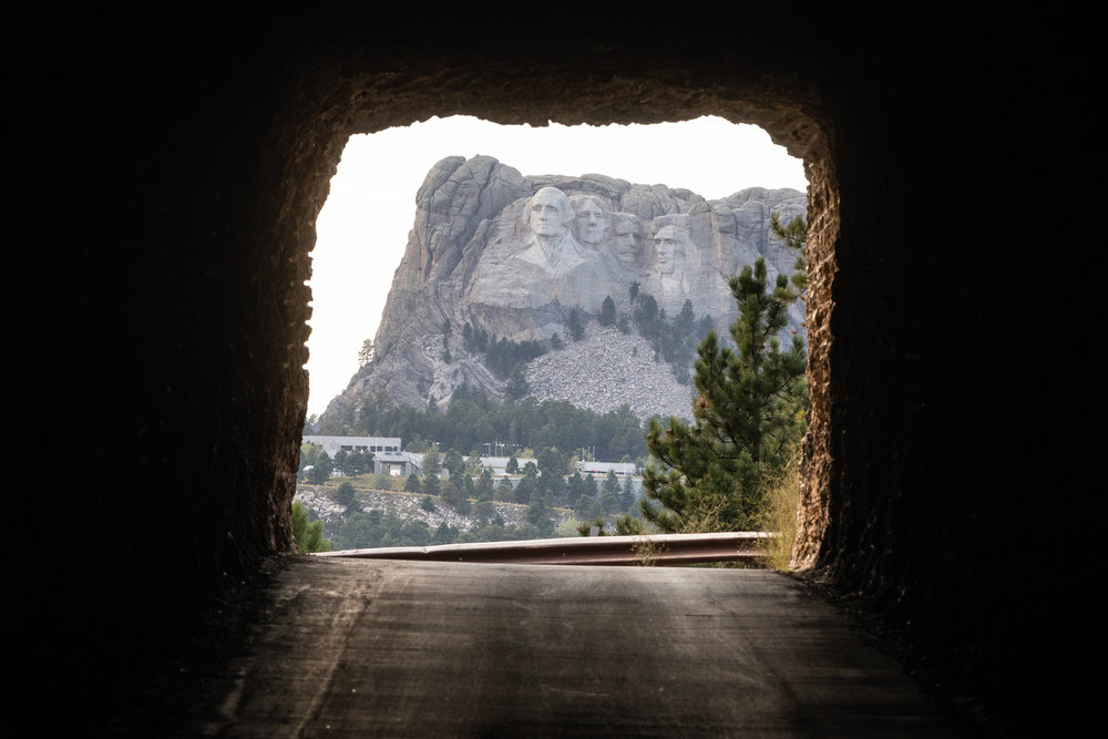 Mount Rushmore viewed through the Doane Robinson Tunnel on Iron Mountain Road, Custer State Park, South Dakota [August, 2018]