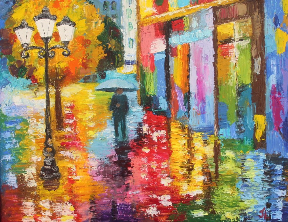 Study of Leonid Afremov's Lost in the Rain.jpg
