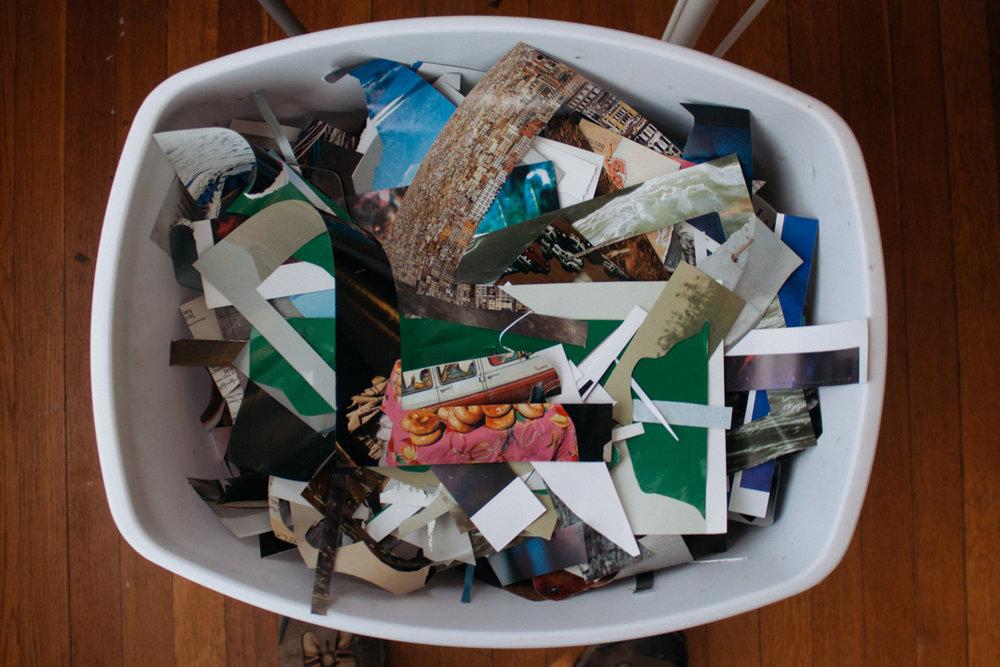 Clippings after a Soul Collage session.
