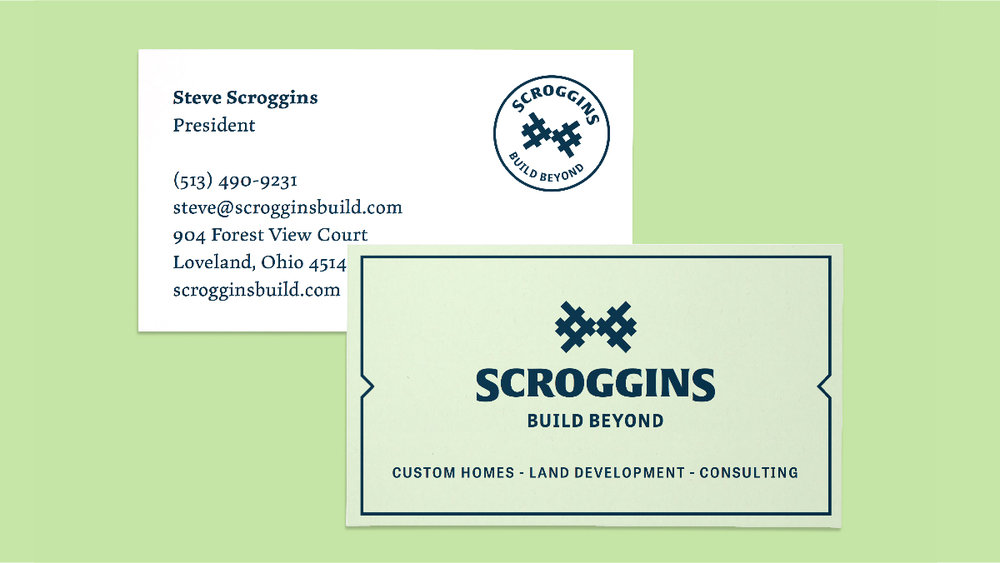 Business cards for Scroggins.