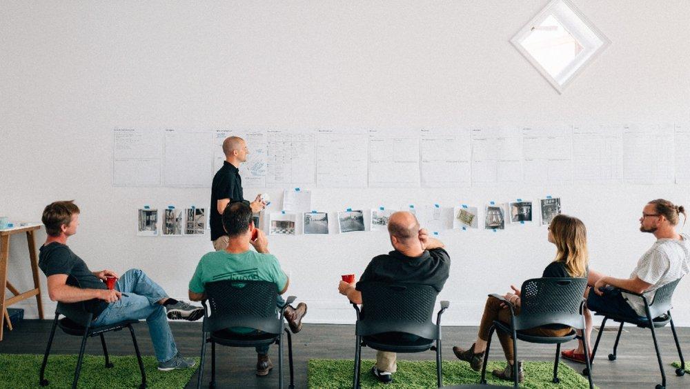D.J. facilitates a Mindful Brand Workshop - Photo by  Chris Glass