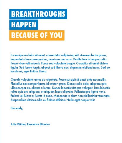 Inside Middle - Letter from Julie