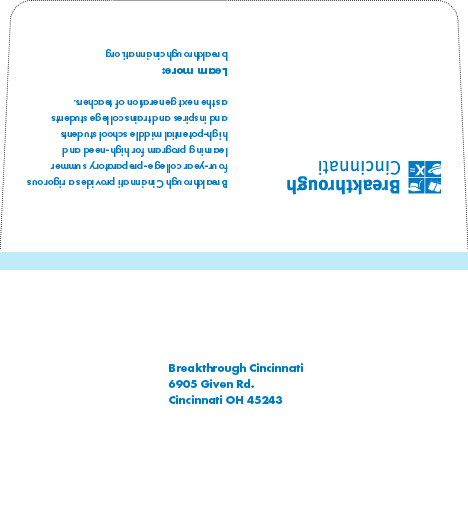 Outside - Remittance Envelope (light blue won't be printed)