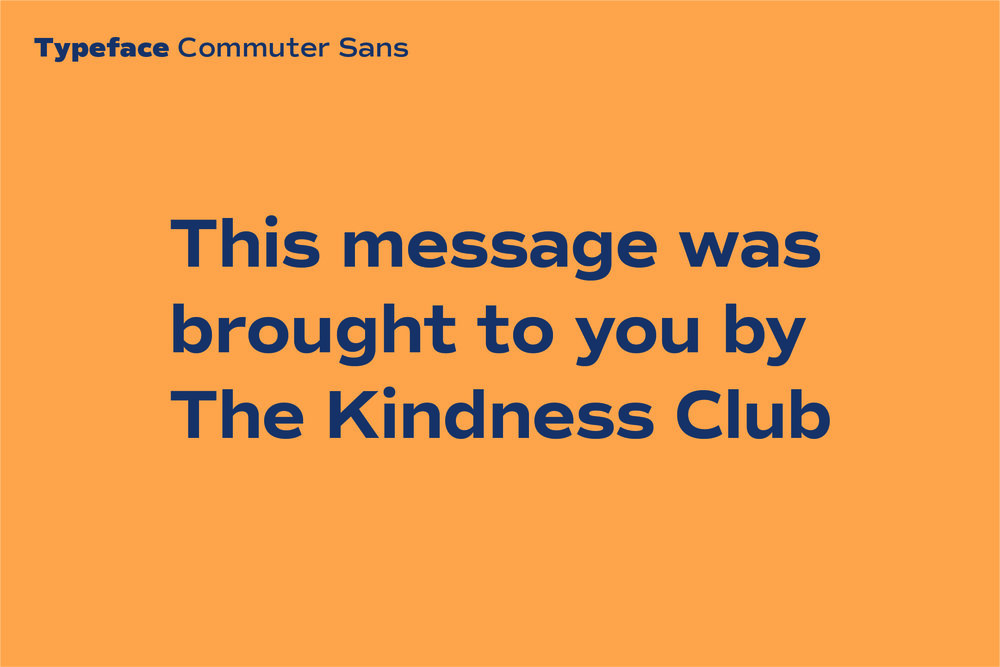 Click here  to see Commuter Sans on Adobe Fonts