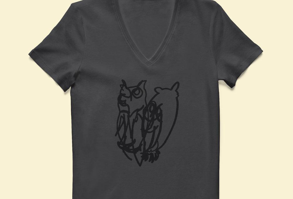 The Owls on Staff Shirts.