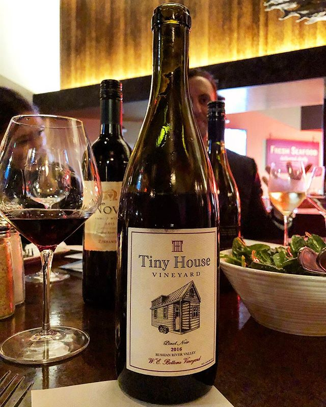 A little 2016 Pinot out on the town for a friends birthday. #pinotnoir #russianriver #pinot #sonomacounty #tinyhouse #winelover #instawine