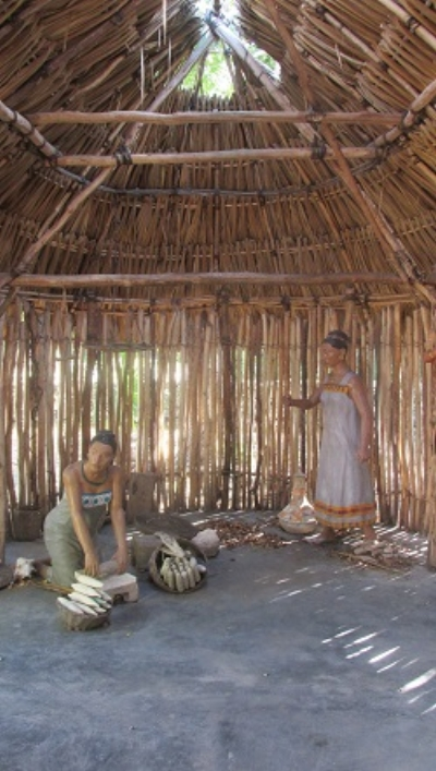A replica of a Maya hut in Isla Mujeres (photo credit: J. McCaughan)