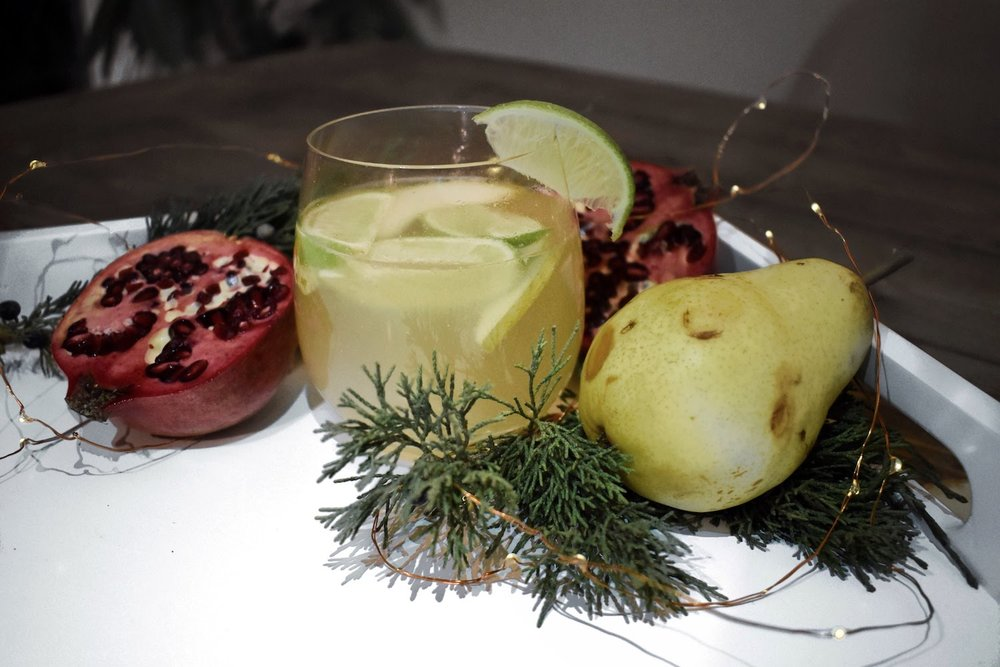 PEAR-LIME - Squeeze a wedge of lime into your glass and add one for garnish!