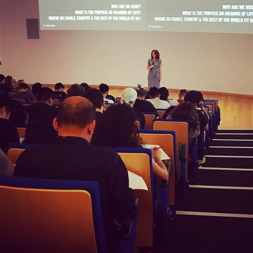 In my first full-time week of running Sankalpa, I gave a talk at University of Technology Sydney (UTS) to 250 club and society executives.  The topic was Leading with Purpose.