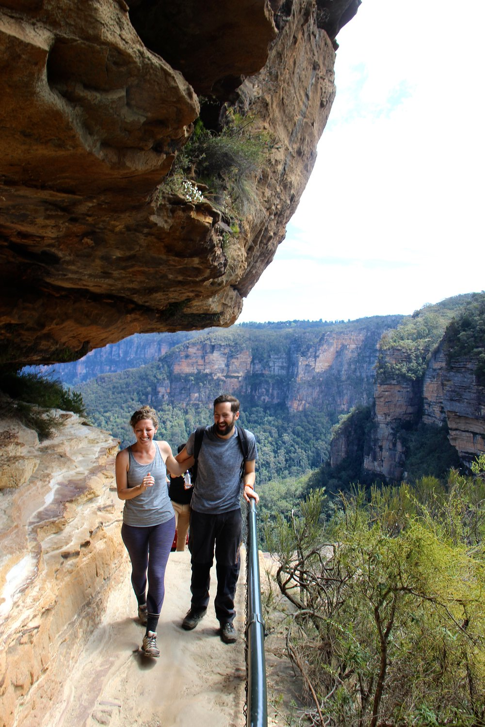 My now-fiance, Mike and I taking in the beauty of the Blue Mountains, a two hour drive from our beachside home in the Northern Beaches of Sydney.