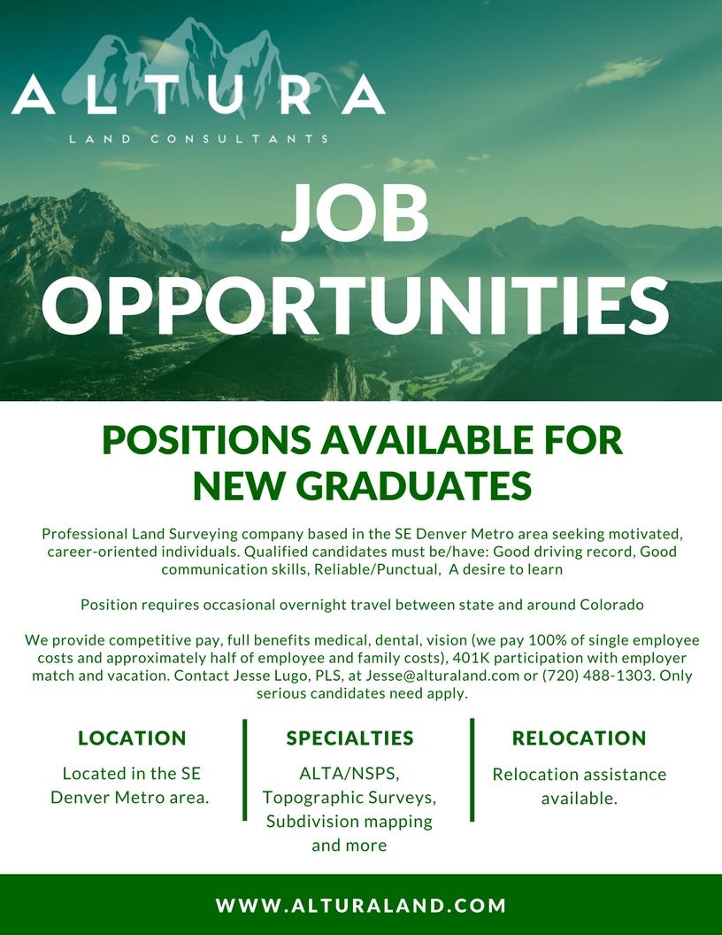Colorado land surveying jobs
